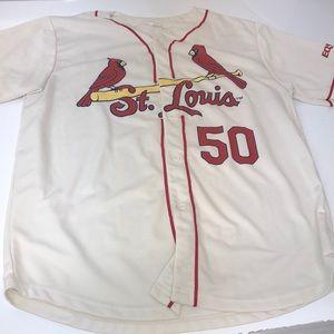 Mens saint Louis Cardinals jersey wainwright 50